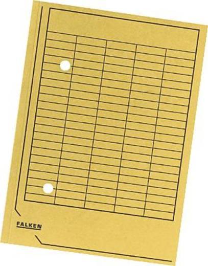 Falken Umlaufmappen/80004203 DIN A4 gelb Manila Karton 250g/qm
