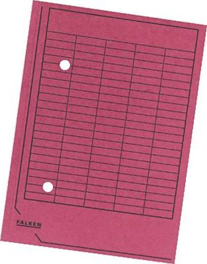 Falken Umlaufmappen/80004187 DIN A4 rot Manila Karton 250g/qm