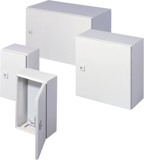Schaltschrank 600 x 600 x 210 Stahlblech Grau-Weiß (RAL 7035) Rittal AE 1060.500 1 St.