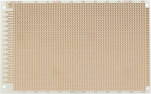 Experimentierplatine Epoxyd (L x B) 160 mm x 100 mm 35 µm Rastermaß 2.54 mm WR Rademacher WR-type 915 Inhalt 1 St.