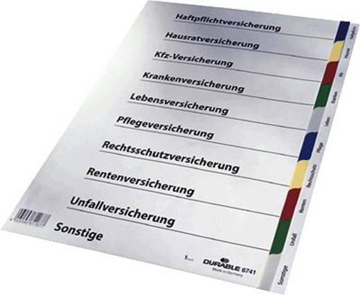 Durable Versicherungsregister/6741-27 DIN A4 farbiger Ablauf Hartfolie