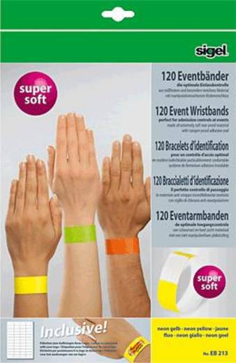 Sigel Eventbänder Super Soft neon gelb/EB213 Inh.120