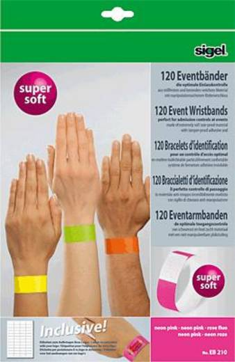Sigel Eventbänder Super Soft/EB210 255x25 mm neon pink Inh.120