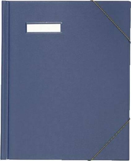 Elba Eckspannmappe/63430BL für DIN A4 blau PVC veredelt
