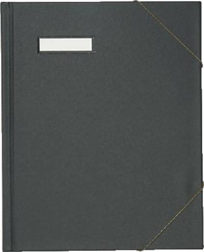Elba Eckspannmappe/63430SW für DIN A4 schwarz PVC