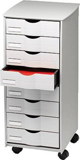 Paperflow Schubladenrollwagen/DT082.02 B316xH715xT343 mm grau 8 Schübe