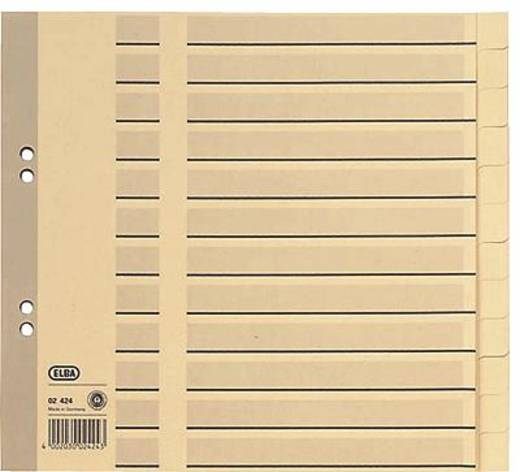 Elba Tauenregister, blanko/02424 210x230mm chamois 100 g/qm Inh.12-teilig