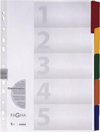 Pagna Mylar-Register/31000-08 weiß 5-teilig