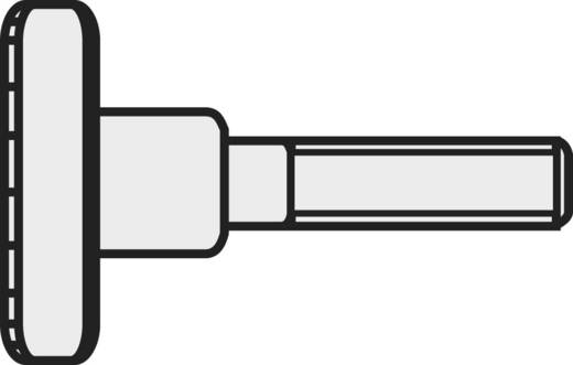 Rändelschrauben M5 10 mm DIN 464 Stahl galvanisch verzinkt 10 St. TOOLCRAFT M5*10 D464-5.8:A2K 189350