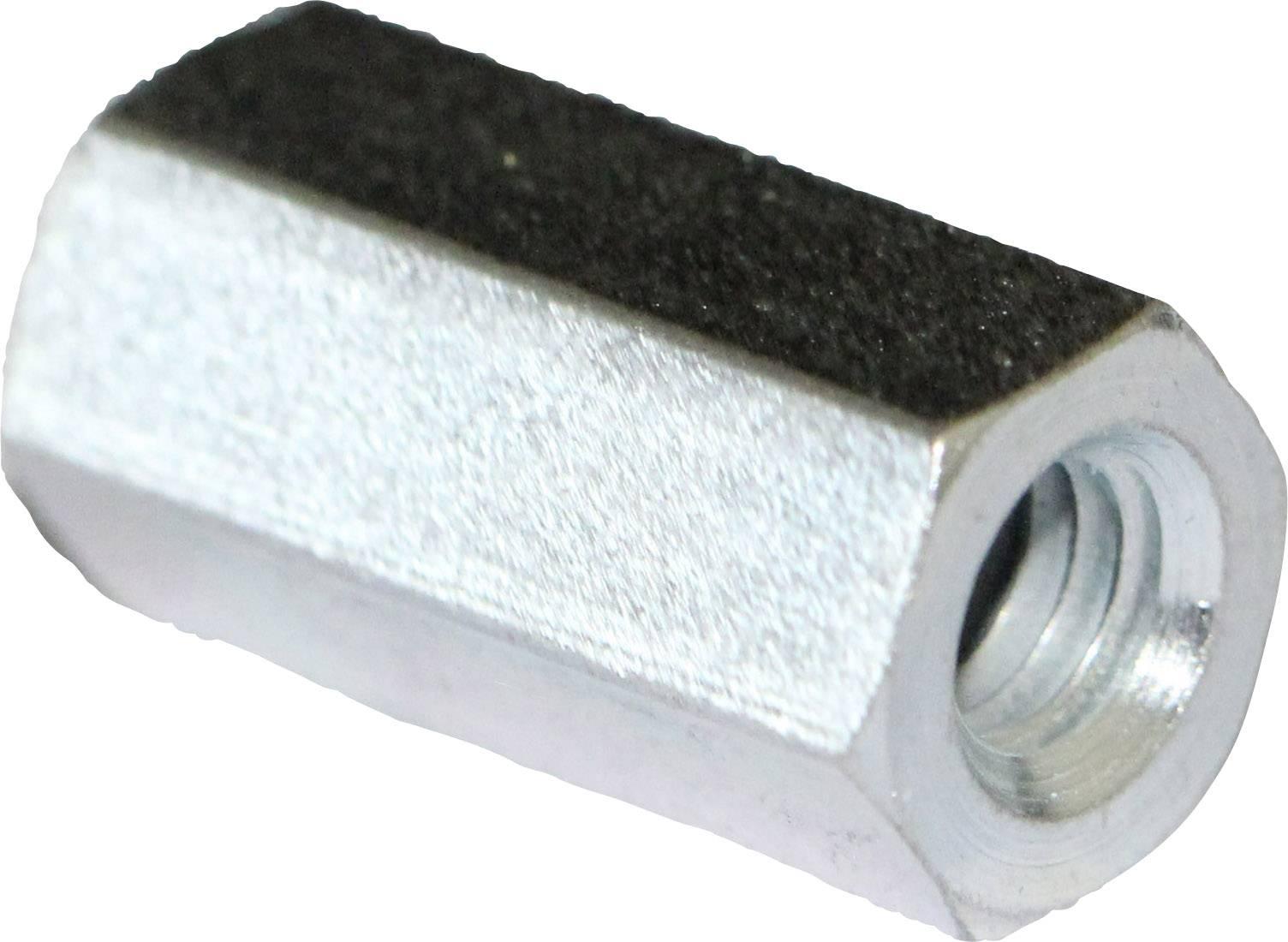 Stahl verzinkt | Sechskant Gr/ö/ße M16 x L/änge 48mm 5 St/ück QUALIT/ÄTS VERBINDUNGSMUTTER