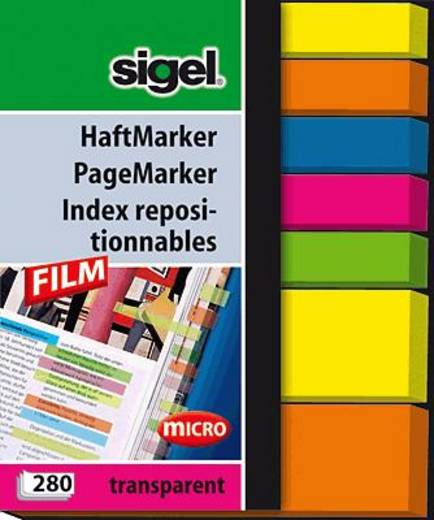 sigel Haftmarker Film/HN616 50x 63 mm 5 micro/2 mini im Pocket Inh.280