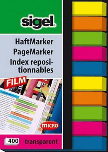 sigel Haftmarker Film/HN617 50x 75 mm micro, 2x 5 Farben Inh.400