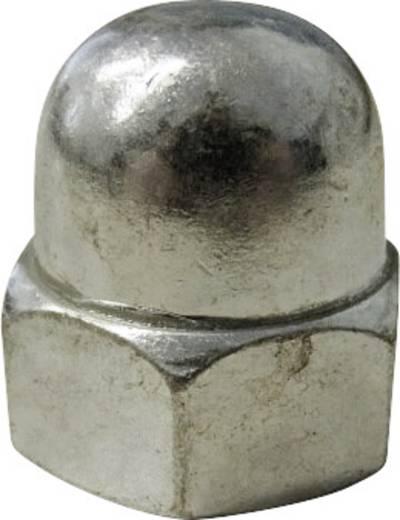Sechskant-Hutmuttern M3 DIN 1587 Stahl verzinkt 10 St. TOOLCRAFT M3 D1587-STAHL:A2K 194786