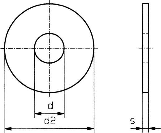 Unterlegscheiben Innen-Durchmesser: 4.3 mm M4 DIN 9021 Stahl verzinkt 100 St. TOOLCRAFT 4,3 D9021:A2K 194725