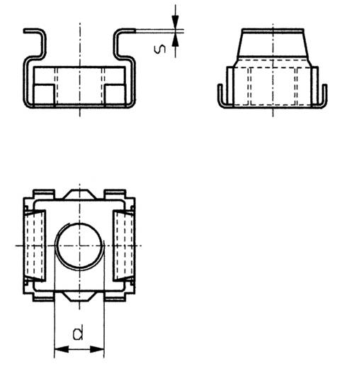 Käfigmuttern M6 Stahl 10 St. TOOLCRAFT 521847