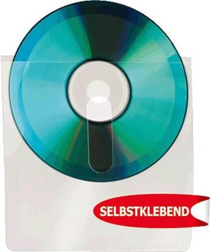 3L CD-Taschen/10236 127x127mm transparent mit Fingerschlitz Inh.10