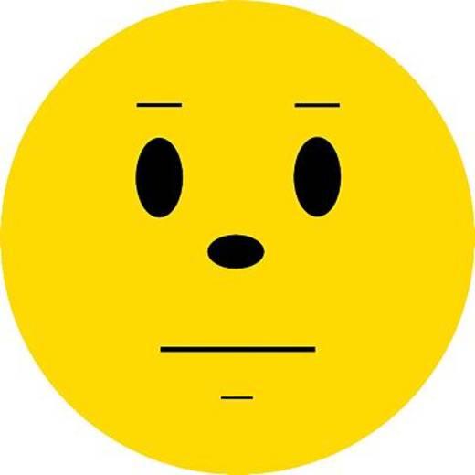 FRANKEN Wertungsymbole Smilie neutral/UMZ 10 S2 Ø 10cm gelb 130g/qm Inh.100