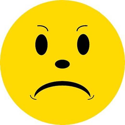 FRANKEN Wertungsymbole Smilie negativ/UMZ 10 S3 Ø 10cm gelb 130g/qm Inh.100