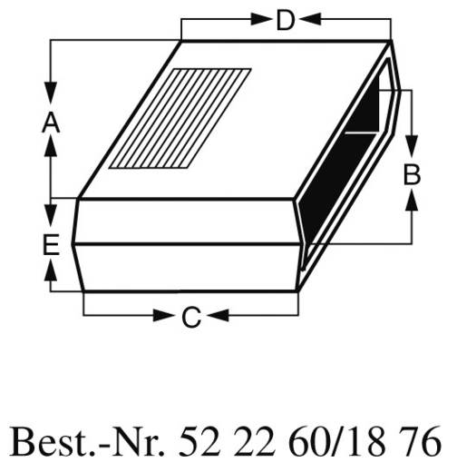 Universal-Gehäuse ABS, Aluminium Dunkel-Grau TEKO AUS 22 1 St.
