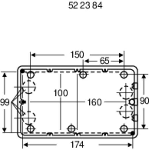 Axxatronic CO 10 Wand-Gehäuse 190 x 115 x 60 Polystyrol (EPS) Hellgrau 1 St.