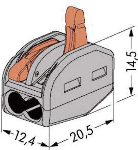 Verbindungsklemme flexibel: 0.08-4 mm² starr: 0.08-2.5 mm² Polzahl: 2 WAGO 222-412 1 St. Grau, Orange