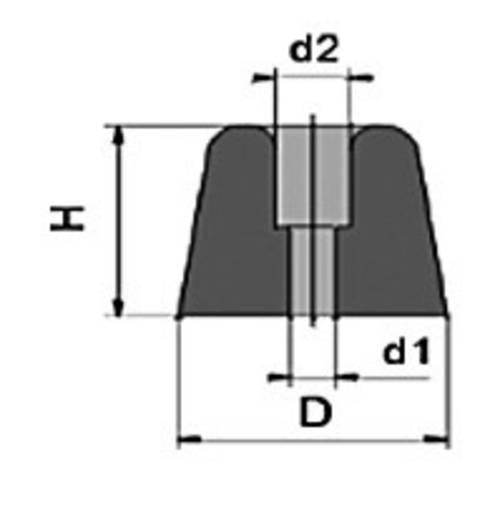 Anschraubpuffer Schwarz (Ø x H) 25 mm x 10 mm PB Fastener 100961 1 St.