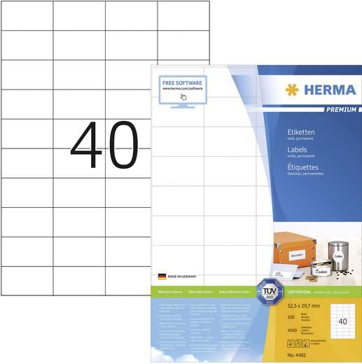 Herma 4461 Etiketten (A4) 52.5 x 29.7 mm Papier Weiß 4000 St. Permanent Universal-Etiketten Tinte, Laser, Kopie