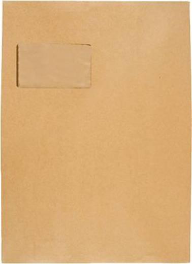 Faltentaschen mit Klotzboden HK/3005104 C4 braun Kraftpapier 120 g/qm Inh.100