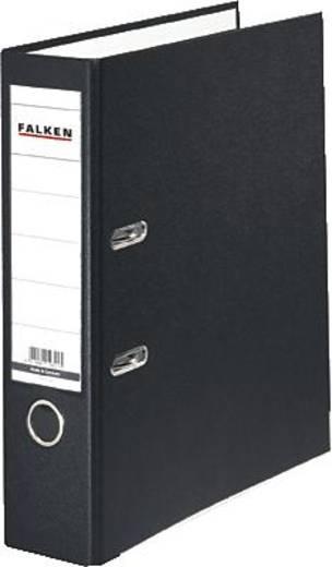 Falken Ordner FALKEN PP-Color DIN A4 Rückenbreite: 80 mm Schwarz 2 Bügel 9984089