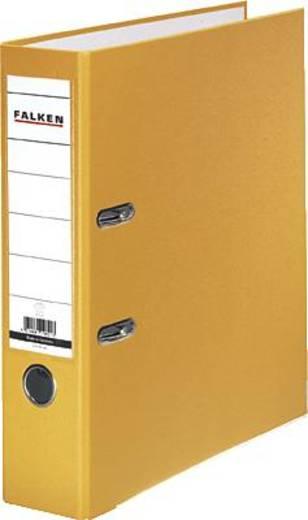 Falken Ordner FALKEN PP-Color DIN A4 Rückenbreite: 80 mm Gelb 2 Bügel 9984048
