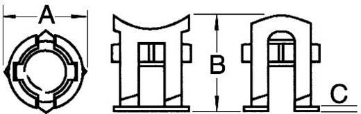 Käfigmutter Blau PB Fastener 382-2005 1 St.