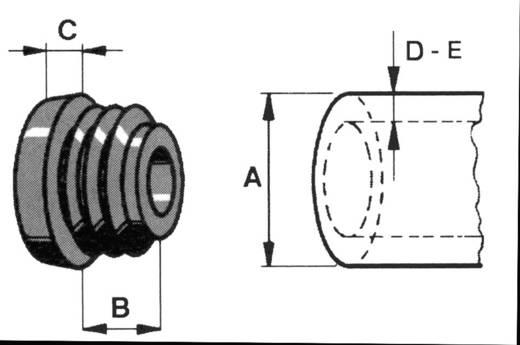 Lamellenstopfen Polyethylen Schwarz PB Fastener 085 0180 699 03 1 St.