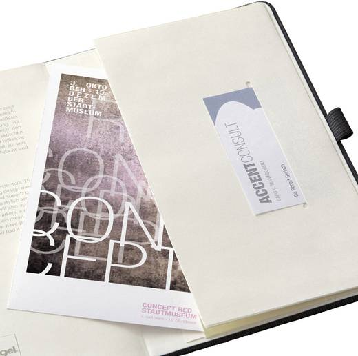Sigel CO120 Notizbuch CONCEPTUM®, blanko, ähnlich A5, Hardcover, schwarz