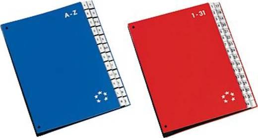 5 Star Pultordner A-Z farbig rot