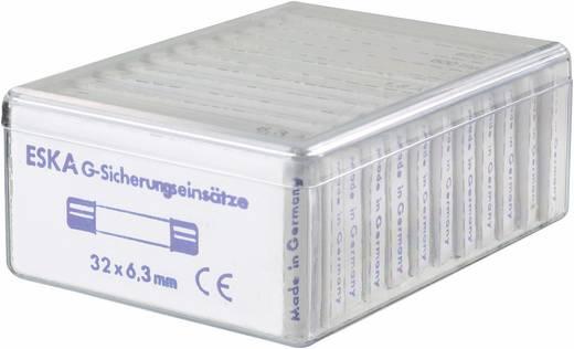Feinsicherung-Sortiment (Ø x L) 6.3 mm x 32 mm Mittelträge -mT- ESKA 632820 Inhalt 120 Teile
