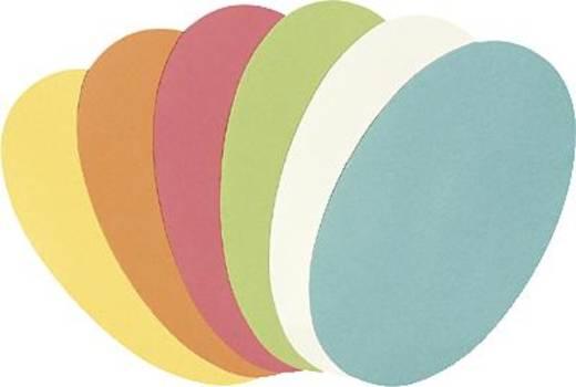 5 Star™ Moderationskarten Oval 11x19 cm sortiert Ovale 130 g/qm Inh.250