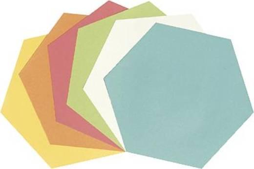 5 Star™ Moderationskarten Wabe 16,5x19cm sortiert Waben 130 g/qm Inh.250