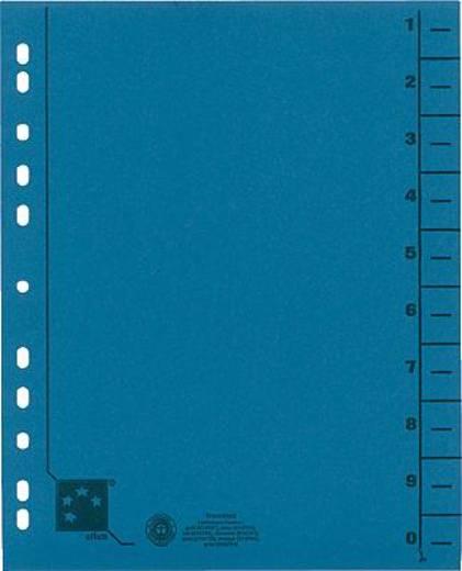5 Star Trennblätter vollfarbig 30x24 cm blau RC Karton 230 g/qm Inh.100