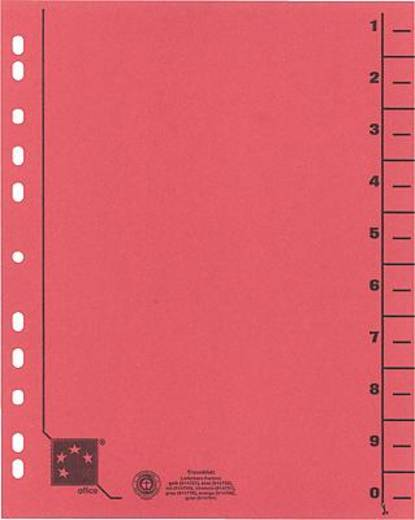 5 Star Trennblätter vollfarbig 30x24 cm rot RC Karton 230 g/qm Inh.100