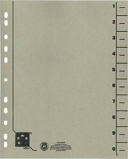 5 Star Trennblätter vollfarbig 30x24 cm grau RC Karton 230 g/qm Inh.100