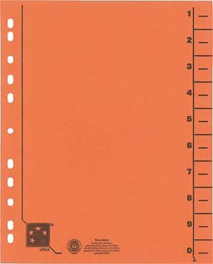 5 Star Trennblätter vollfarbig 30x24 cm orange RC Karton 230 g/qm Inh.100
