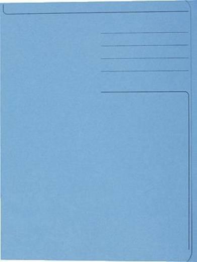 5 Star Einschlagmappe für DIN A4 blau Karton 320g/qm