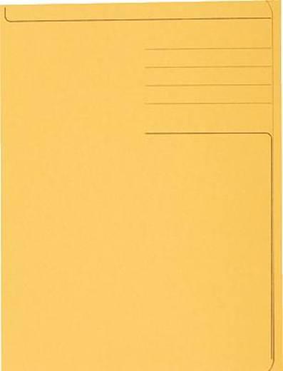 5 Star Einschlagmappen für DIN A4 gelb Karton 320g/qm