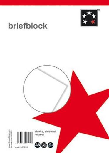 5 Star Briefblock CF DIN A5 weiß blanko 70 g/qm Inh.50