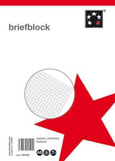 5 Star Briefblock CF DIN A5 kariert 60 g/qm Inh.50