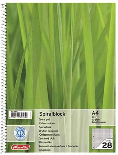Herlitz Collegeblock Recycling/303453 DIN A4 kariert 60 g/qm Inh.80 Blatt