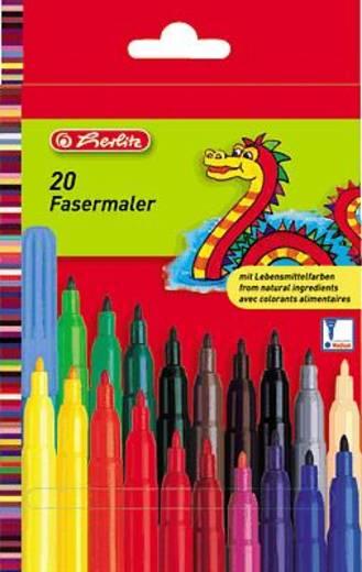 Herlitz Fasermaler 20er LB-Farben, medium/8649238