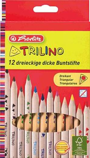 herlitz Trilino 3-kant Buntstifte/10412062 Inh.12