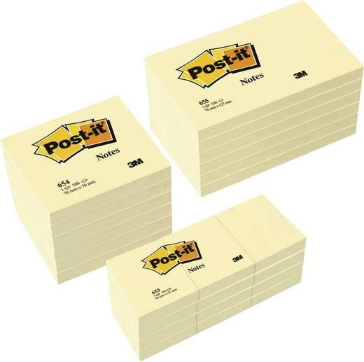 Post-it Haftnotiz 654655P Gelb 2400 Blatt