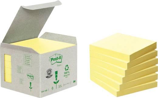 Post-it Haftnotizen Recycling/6541B 76 x 76 mm gelb Inh.6